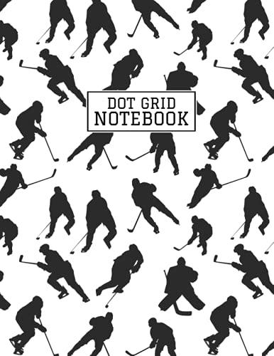 Hockey Dot Grid: Hockey Bullet Dotted Journal Kit for Men, Women, Girls, School Teachers, Homeschool or Homework - 8.5