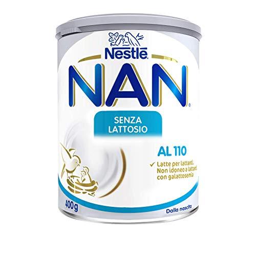 Nestlé Nan senza Lattosio al 110, Latte per Lattanti in Polvere Latta 400 g