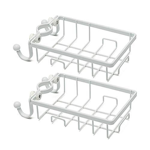 BASKETS Soporte de Esponja Sink Cocinas Organizador.Accesorios para lavavajillas Almacenamiento en la Cocina para Soporte de Esponja y Gadgets domésticos.Bandeja de Ducha Drop Surface Shelf 2 Piezas