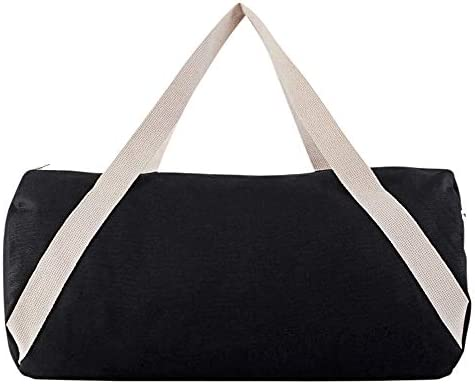 American Apparel Unisex Cotton Canvas Gym Bag Black Natural One Size product image