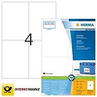 HERMA 4627ラベルプレミアムA4 105 x 148 mmホワイトペーパーマット800個。