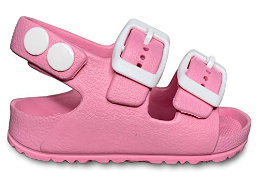 Lucky Love Toddler Water Shoes for Girls & Boys | Slip on Sandals, Washable Pink