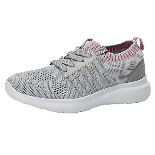 DAIFINEY Damen Freizeitschuh Sneaker Mesh Leichte Modische Turnschuhe Freizeit Atmungsaktiv Sportlicher Trainingsschuh Sportschuhe Laufschuhe(2-Grau/Gray,37)