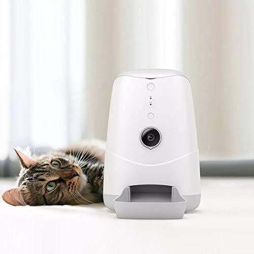 Lpinvin PE Smart Pet Feeder Intelligente Bildvorschubeinrichtung Timing-Quantitative Cat Food Bowl Hundefutter-Maschine mit Kamera Futterautomaten Smart Pet Feeder für Hunde