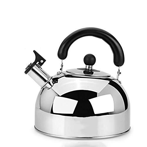 the teapot company Tetera de té silbando, Tetera ergonómica de Acero Inoxidable, Adecuado para Estufa Tetera de Gran Capacidad para el hogar Superior