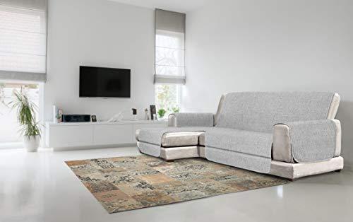 Cubierta de sofá Anti-Deslizamiento Confort con chaiselongue, Gris, 290cm