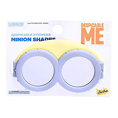 Costume Sunglasses Lil' Characters Minion Mirror Lens Sun-Staches Party Favors UV400