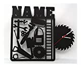 Heimwerker Handwerker Wand Uhr mit Namen lustige witzige Zubehör Geschenke für Werkzeug Arbeiter...
