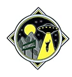 ROSWELL ALIEN LARGE ENAMEL PIN, Licensed Original Artwork by Matt Stewart Premium Quality Pin - 2' x 2'