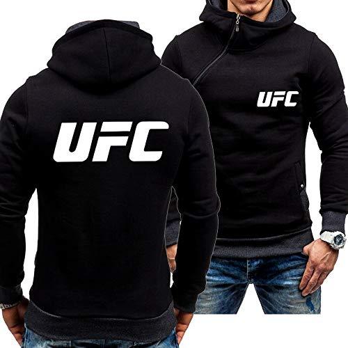 Männer Hoodies Jacke Pullover- UFC Print Sweatshirt Baseball Uniform Langarm Casual Sport Breasted Track Und Feldjacke-Jugendgeschenk A-Large