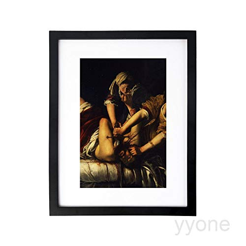 yyone Art Print Wall Art,Judith Beheading holofernes gentileschi Picture Frames with High Definition Glass,Home/Office Wall Art Decor Wooden Frames 8X12 Inches