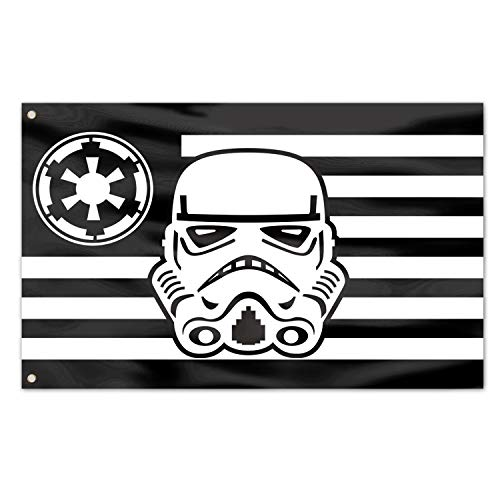Galactic Empire Star Wars Flag,Indoor Outdoor Flying Deluxe banner 3x5 Ft (black and white)