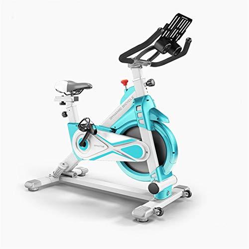 Qianglin Ejercicio Bicicleta Tranquila Bicicleta de Ciclo de Carreras con Soporte para iPad y cómodo cojín de Asiento, Bicicleta de Ejercicio Columpio (Color : White)