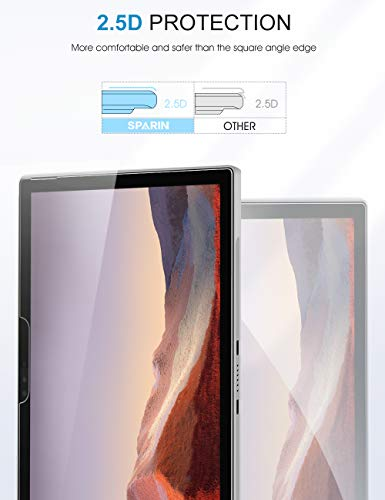 [2 Pack] Screen Protector for Surface Pro 7/Surface Pro 6 / Surface Pro (5th Gen) / Surface Pro 4, SPARIN Tempered Glass Screen Protector with Surface Pen Compatible/Scratch Resistant Photo #6