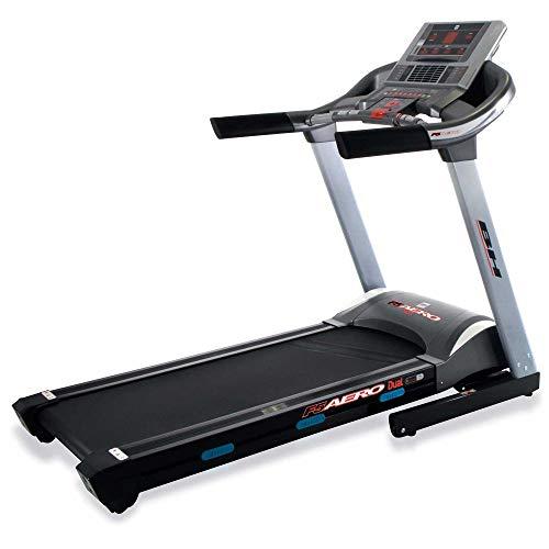 Bh Fitness Tapis roulant F5 AERO DUAL G6427LW - 22 Km/h - 140 x 51 cm - Inclinazione elettrca 12{ec5e022161efbb3fc214ab80a36ac85a5104d6b5d52d6676ba256b20e968cd1d} max - 8 ANNI DI GARANZIA