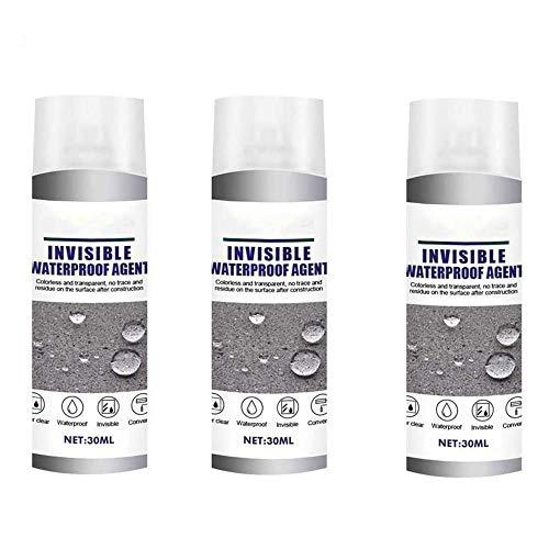 3 Stück Super Strong Bonding Spray Wasserdicht - 30 ml, durchlässiges unsichtbares wasserdichtes Mittel Mächtiges Dichtungsspray für Badezimmerfliesen Wasserdichte Beschichtung Außenwanddachdach