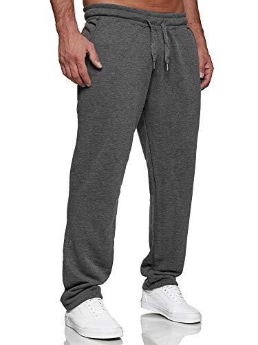 Tazzio Herren Jogginghose Regular Fit Sporthose Fitness Freizeit Hose Trainingshose Sweat Sweatpants Jogger | C100 Anthrazit 4XL