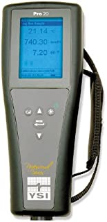 """YSI Pro20 Lab/Field Dissolved Oxygen/Temperature Meter, 0 to 50 mg/L, 0.1 mg/L, 0 to 20 mg/L, -5 to 55 degree C, 8-1/2"""" Le..."""