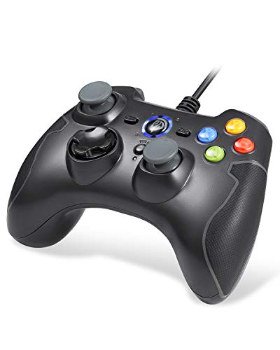 EasySMX Mandos PS3, [ES Stock, Envío Rápido] Gamepad Gaming, Mandos PC, Contoller Controlador de Juegos con Cable Joysticks Doble para Windows/Android / PS3 / TV Box/PC
