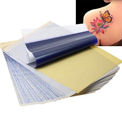 Osuter Tattoo Matrizenpapier,40PCS Tattoo Papier Transferpapier Haut A4 Größe Thermodrucker Papier Tattoo für Tattoo Drucker Maschine