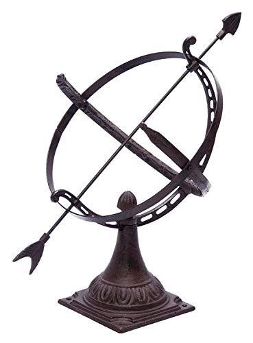 Cadran solaire à poser - décoration de jardin - fonte - style antique - 52 cm