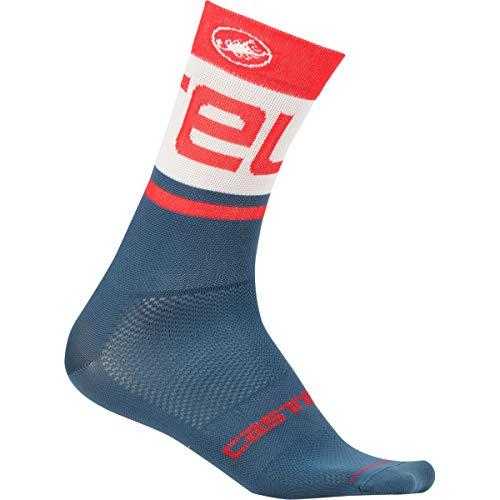 CASTELLI Free Kit 13 Socken Unisex - Erwachsene XXL Light Steel Blue/Red