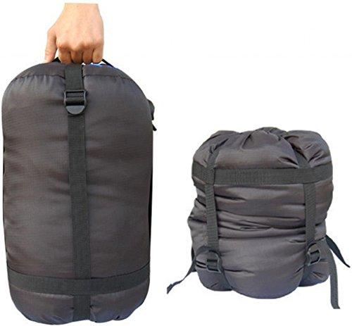 BLUEFIELD légère Sac de compression Stuff Sac en nylon extérieur Camping Sac de couchage de rangement Black 1PC