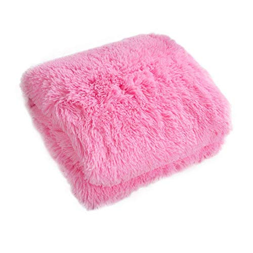Fleecedecke Decke Velvet Doppeldecke Plüschdecke Fluffy Soft Warm Decken Throw (160 * 200cm, Pink)