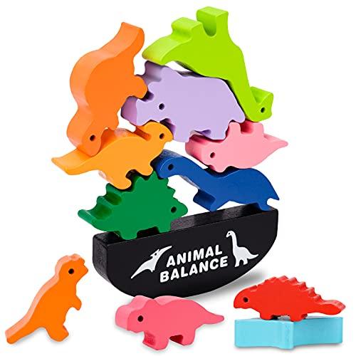 Spielzeug ab 2 3 4 Jahren Jungen Kinder,Spiele ab 2-5 Jahre Jungen Mädchen Geburtstagsgeschenke Dinosaurier Montessori Spielzeug Motorikspielzeug ab 1-3 Jahr Kinderspielzeug Holzspielzeug für Kinder