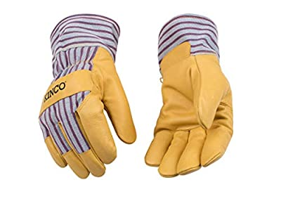 KINCO 1927-XXL Men's Lined Grain Pigskin Gloves, Heat Keep Lining, XX-Large, Golden