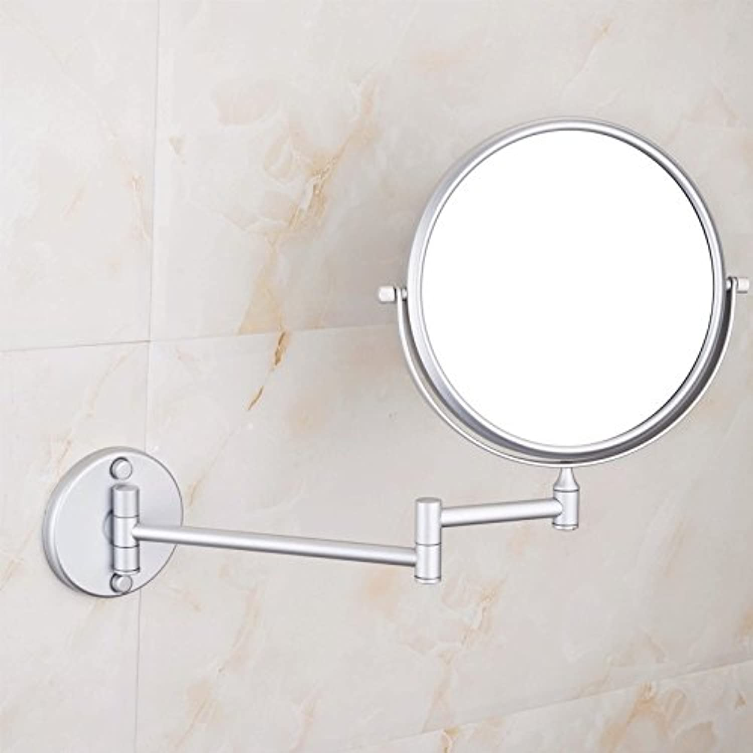 Space aluminum mirror fold mirror bathroom mirror wall mount makeup mirror 8-inch