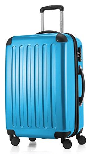 HAUPTSTADTKOFFER - Alex - Maleta Rígida Equipaje Mediano, Candado TSA, Trolley con 4 Ruedas multidireccional, TSA, 65 cm, 74 litros, Azul Cian