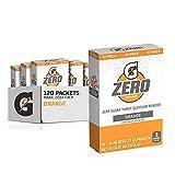 Gatorade G Zero Powder, Orange, 0.10oz Packets, pack of 12 (120 counts)