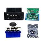 UGUTER Mini PIC18F25K80 ELM327 V1.5 Bluetooth ELM 327 v1.5 Herramienta de exploración del Adaptador de diagnóstico del escáner OBD Lector de códigos (Color : 2PCB Black)