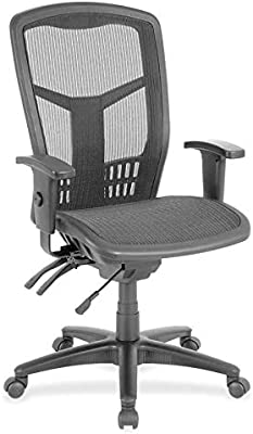 Lorell Executive Mesh High-Back Chair, Black