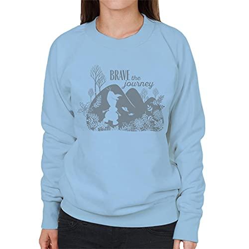 Disney Frozen II Olaf Silhouette Brave The Journey Women's Sweatshirt Sky Blue