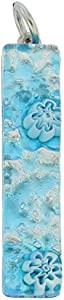 GlassOfVenice Colgante de cristal veneciano con diseño de palo, color plateado