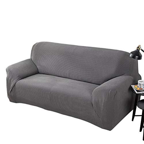 Heheja Sofabezug Stretch Sofa Sesselbezug Elastisch rutschfest Elastisch Ärmel Haushalt Klein Karierten Stoffbezug Silber grau