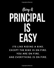 Being PRINCIPAL A Is Easy: Its Like Riding A Bike. Except The Bike Is On Fire. You Are On Fire. And Everything Is On Fire. Occupation Gift Idea