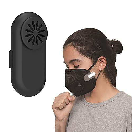 2021 Personal Air Purifier Wearable - Air Purifier Mask Clip Air Purifier Face Mask with Fan Breathe Cooler Wearable Air Purifier for Mask | USB Charging port Low Noise Operation (B)