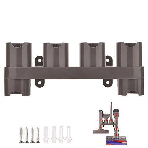 YYSU Wandhalterung Zubehörhalter für Dyson V8 V7 V10 V11 SV10 SV11 Staubsauger Zubehör, Dyson Aufsatz Organizer Halter (6 Aufbewahrungsbuchsen)