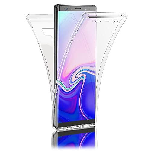 Kaliroo 360° Schutzhülle Klar kompatibel mit Samsung Galaxy Note 9 Hülle, Transparente Silikon R&um Handyhülle Full-Body Hülle Slim Cover Dünn, Handy-Tasche Phone Etui Vorne und Hinten Komplett-Schutz