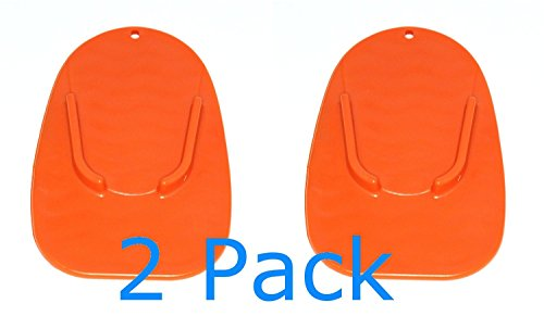 MOTORCYCLE KICKSTAND 2 Pack PLATE BIKER'S KICK STAND PAD ORANGE