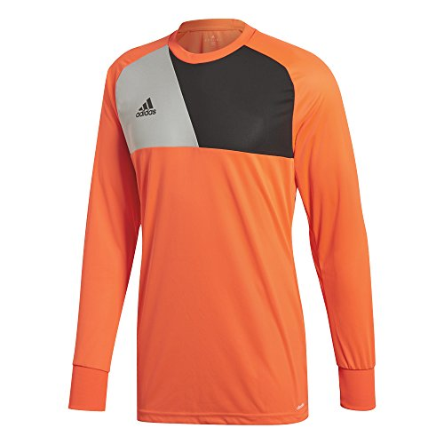 adidas Men's Assista 17 Goalkeeper Jersey, Solar Red/Stone/Black, Small