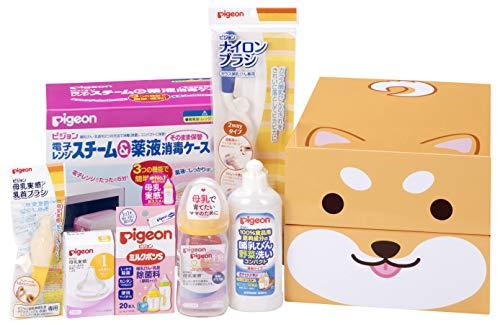 【Amazon.co.jp限定】 ピジョン 出産準備セット 柴犬 0か月~ 耐熱ガラス製