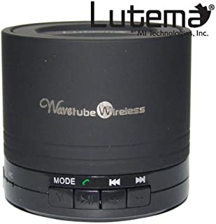Lutema WaveTube Wireless Bluetooth Portable Digital Speaker w/FM Radio - Black by Lutema