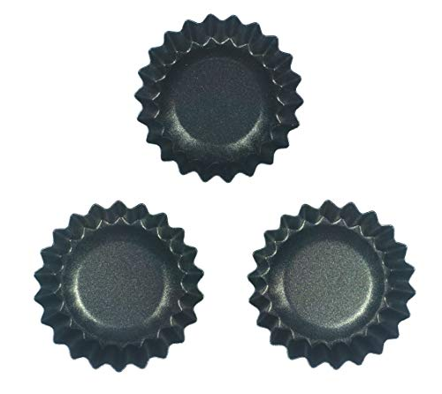 StyleMbro Air Fritteuse Mini Single Single Single Single Antihaft Teflon beschichtet für Backen Cupcake Zubehör Aluminium Karbonstahl 3 Stück