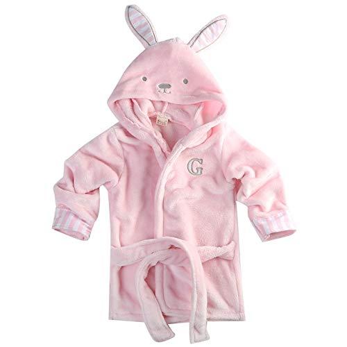 0-5T Süße Baby Badetuch Coral Fleece Decke Infant Hooded Wrap Bademantel Animal Kids Hooded Badetuch Infant Badedecke-Pink-3-4 to 5 T