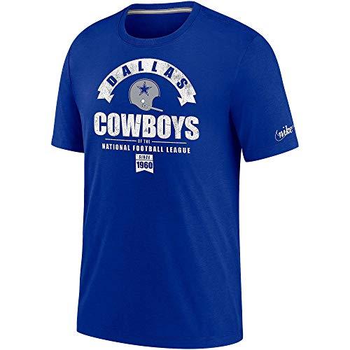 Dallas Cowboys Nike Historic Tri-Blend - Camiseta para hombre - 200210075, Nike Historic - playera de manga corta, L, Royal