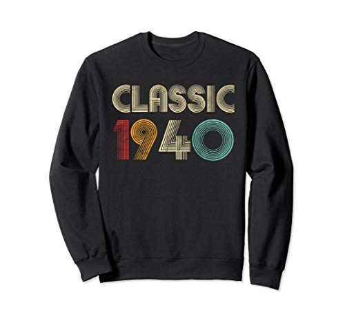 Klassisch 1940 Vintage 80. Geburtstagsgeschenk Männer Frauen Sweatshirt